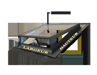 lucarne fen tre de toit ligne basic vasistas 55x45 puits de lumi re ebay. Black Bedroom Furniture Sets. Home Design Ideas