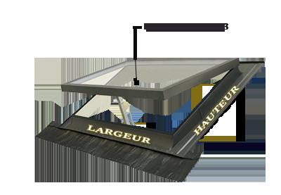 lucarne fen tre de toit ligne classic vasistas 100x64. Black Bedroom Furniture Sets. Home Design Ideas