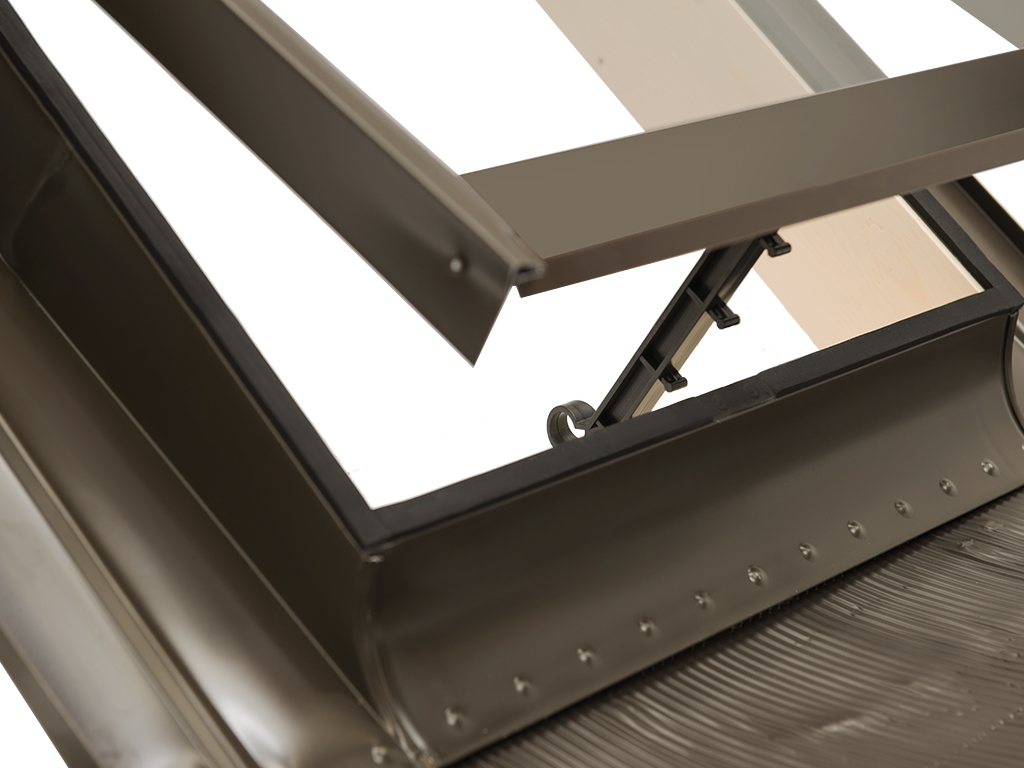 how to add skylight window in roof opening