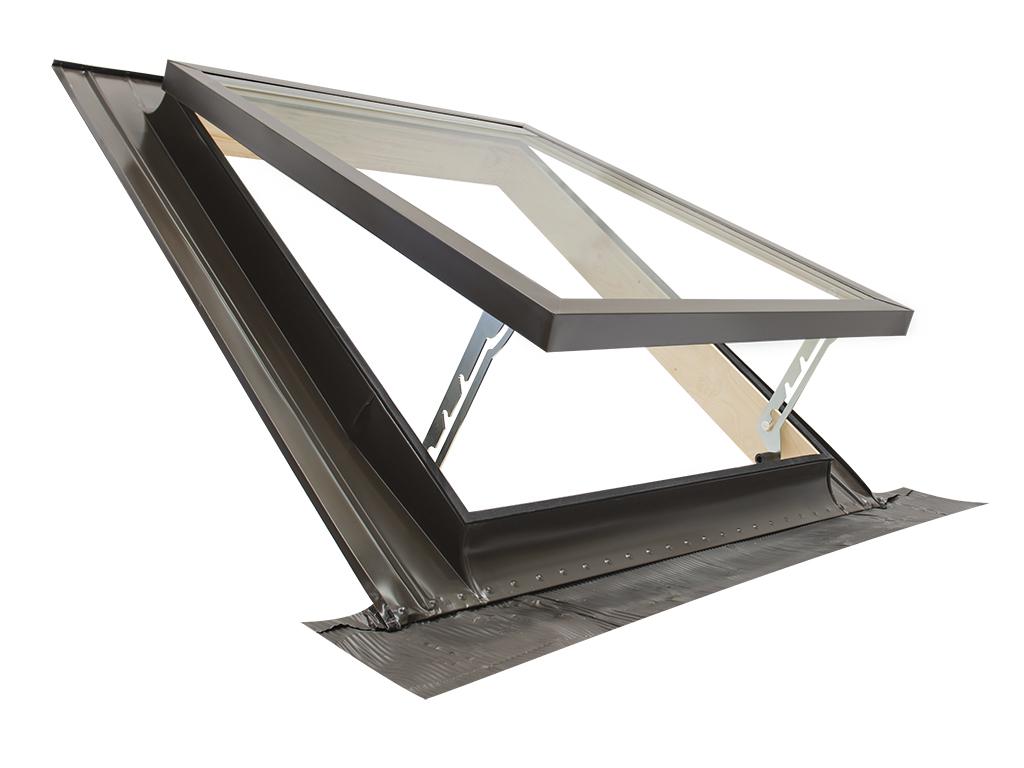 lucarne fen tre de toit ligne classic vasistas 45x75 ouverture genre velux ebay. Black Bedroom Furniture Sets. Home Design Ideas