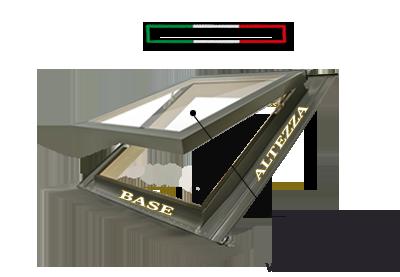 Finestra per tetti comfort vasistas 78x98 apertura a for Velux finestre x tetti